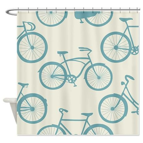 Cute Bicycles Shower Curtain By Daecu Cafepress Vintage Shower Curtains Curtains Kids Shower Curtain