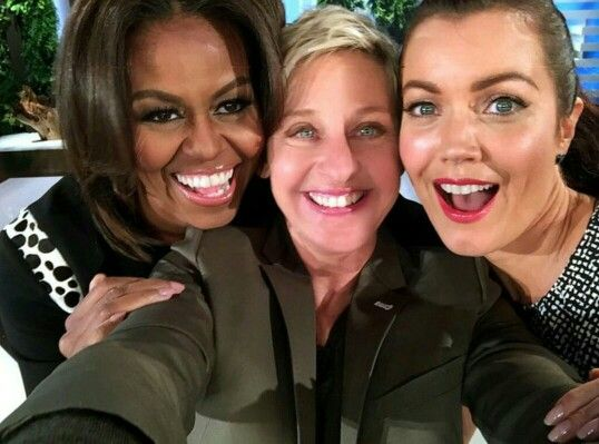 First Lady Michelle Obama on the Ellen show