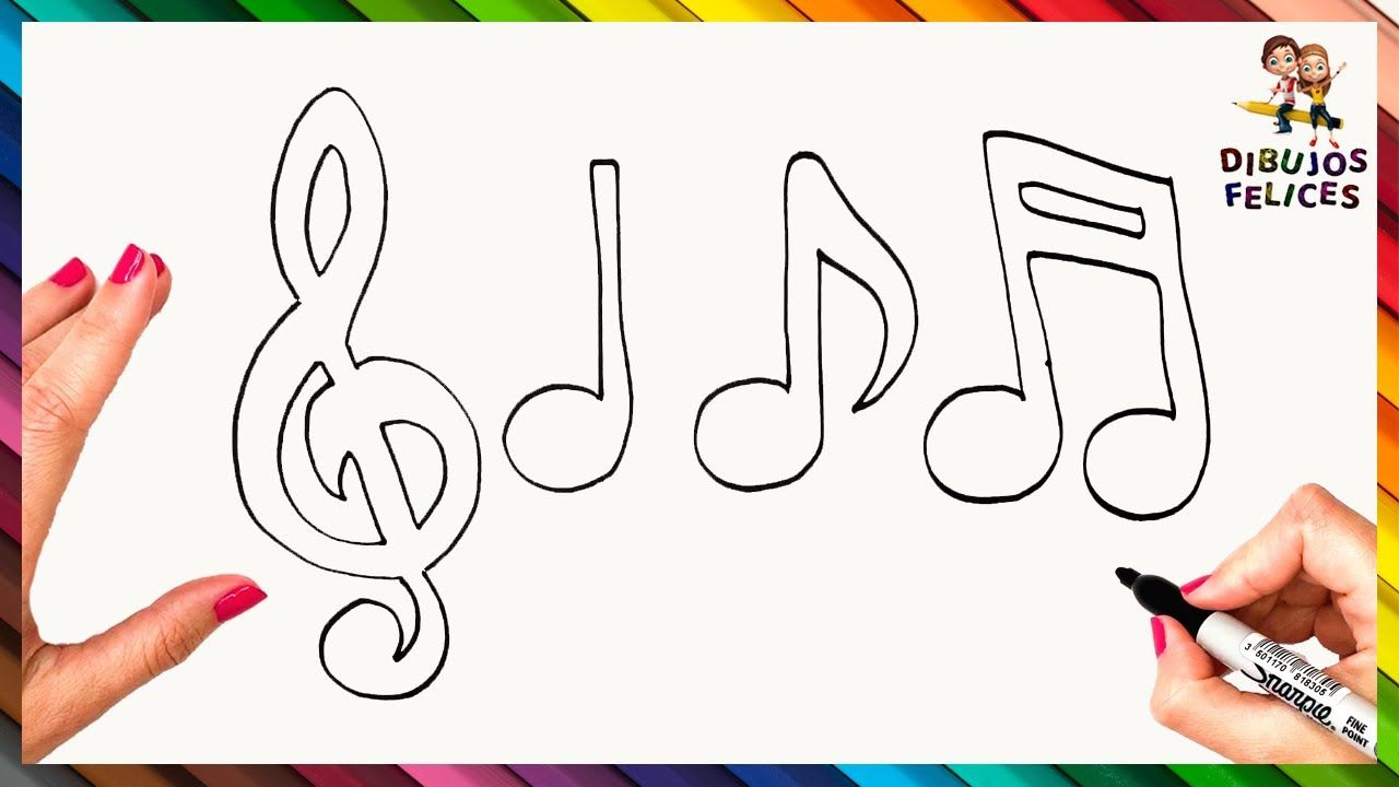 Como Dibujar Una Nota Musical Paso A Paso Dibujo Facil De Nota Musical Notas Musicales Dibujos De Instrumentos Musicales Notas Musicales Dibujos