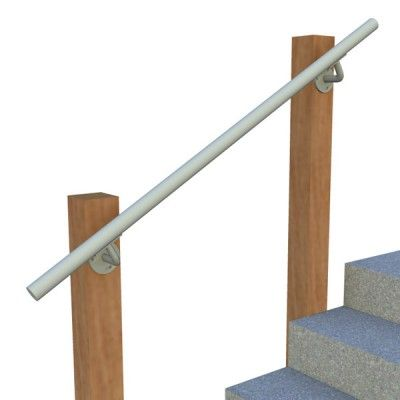 Best Wall Post Mount Railing Open End R Stair Railing 640 x 480