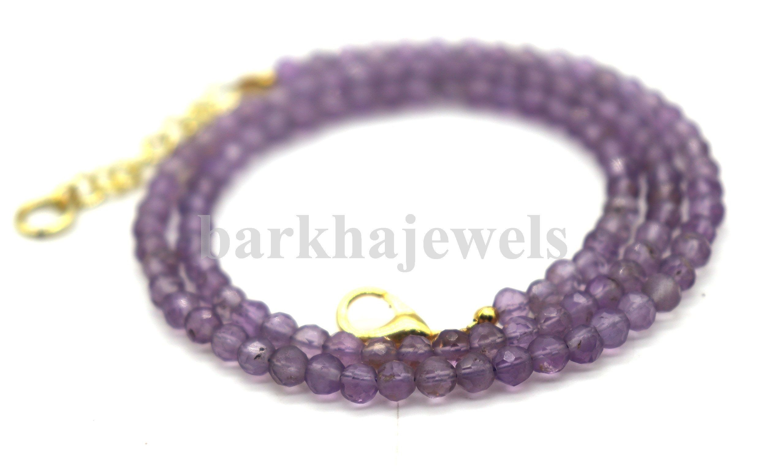 """AMETHYST ROUND BEADS FACETED 4mm 16/"""""""