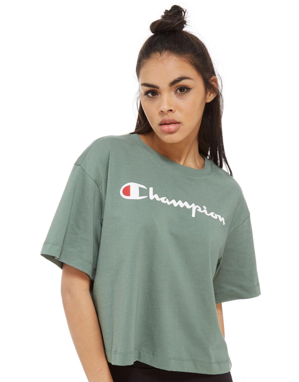 0430c7db268 Champion T-shirt Boxy Logo Femme