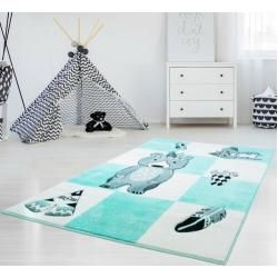 Photo of Alessio rug in turquoise