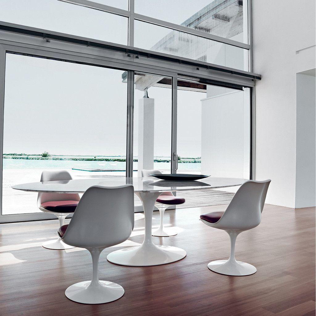 Tulip Table Oval   Carrara