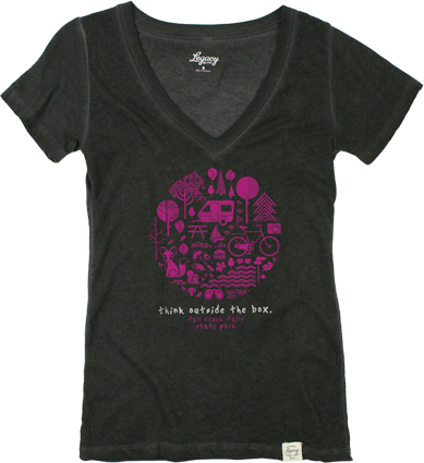 Legacy Style: 646WOF - Women's Old Favorite V-Neck