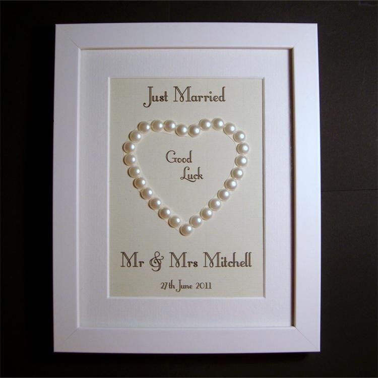 Just Married wedding gift httpwwwsayitframescouk Marriage GiftsPersonalized