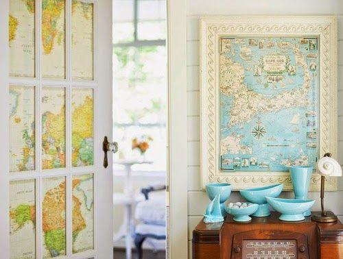 Use Mapas na Decoração