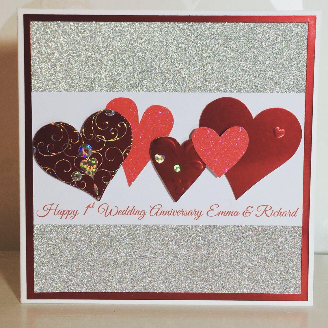 Handmade Personalised 1st Wedding Anniversary Card My Handmade