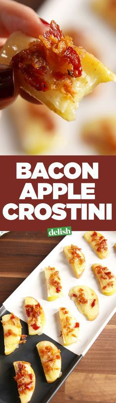 Apple Crostini is the low-carb, last-minute app you've been looking for. Get the recipe on Delish.com.