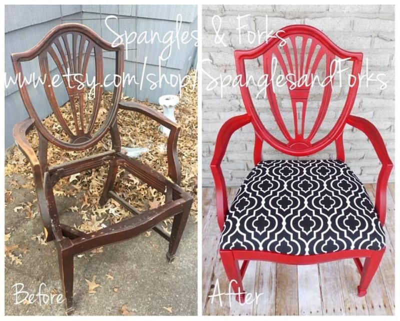 chair rocking in holiday red milk paint red painted furniture rh pinterest com