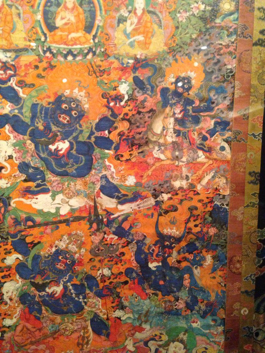 Wrathful Buddhas. Rubin Museum of Art, NYC. Photo taken by Samudrasambhava. See the rest at https://www.pinterest.com/Samudrasambhava/