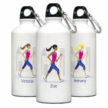 "Personalized ""Go-Girl"" Walk/Run Water Bottle - Bridesmaid Gifts $20.99  #bridesmaidgifts #bridesmaid #Wedding #weddinggifts #Gift"