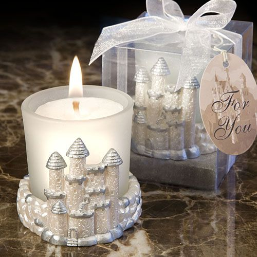 Enchanting And Elegant This Castle Design Candle Favor Makes A