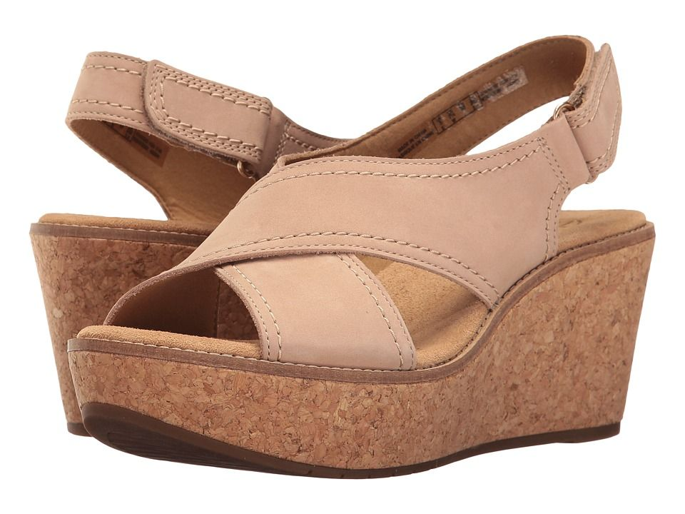 47d28a81825b CLARKS CLARKS - AISLEY TULIP (SAND NUBUCK) WOMEN S SANDALS.  clarks  shoes
