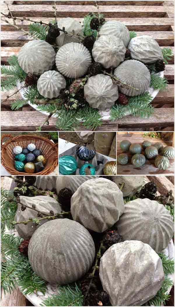 28 Cutest Outdoor Concrete Projects For Your Home Cemento, Fuentes - jardines navideos