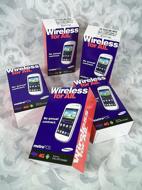 Sold Lot of 5 Samsung Galaxy Exhibit White SGH-T599N