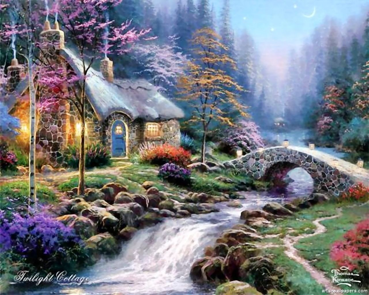 Excellent Thomas Kinkade Art Thomas Kinkaid In 2019 Kinkade Home Interior And Landscaping Ologienasavecom