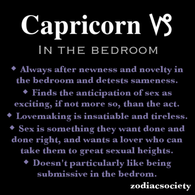 What Are Capricorns Like In Bed