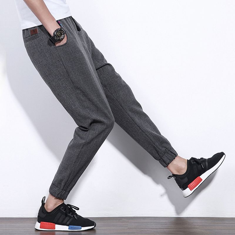 eaca39333 Mens Cotton Casual Ankle-Length Pants Male Joggers Fit Harem Pants Men 2017 New  Mens Brand-Clothing Plus Size 5xl Free Shipping