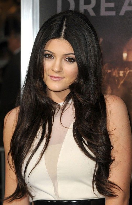 Phenomenal Long Black Center Part Hairstyle Sexy Woman Hair And Long Hair Hairstyles For Women Draintrainus