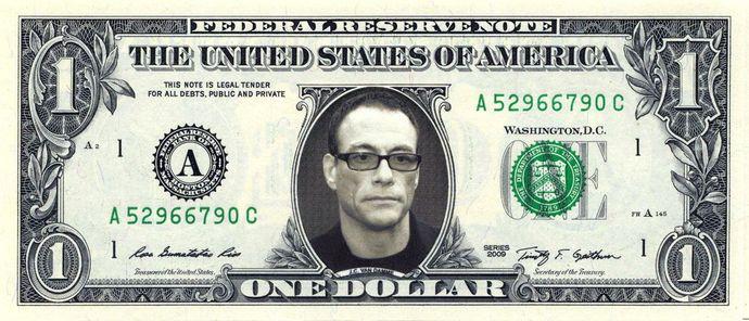 Jean Claude Van Damme Real Dollar Bill Cash Money Collectible Memorabilia Celebrity Novelty By Vincent The Artist 7 77 Usd