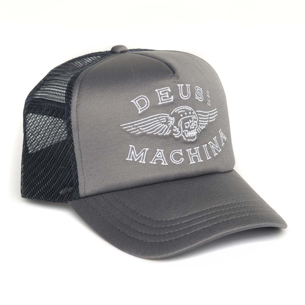 Deus Ex Machina Curtis Trucker Cap - Rock Grey | Motorcycle Hats | FREE UK delivery - The Cafe Racer
