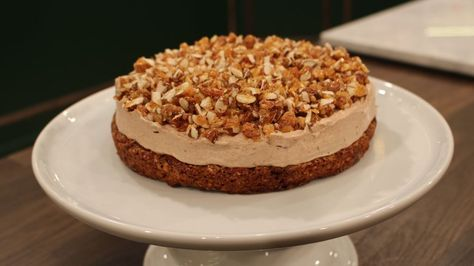 Nougat-krokant-tærte | Opskrift | Tærte, Dessert og Kage