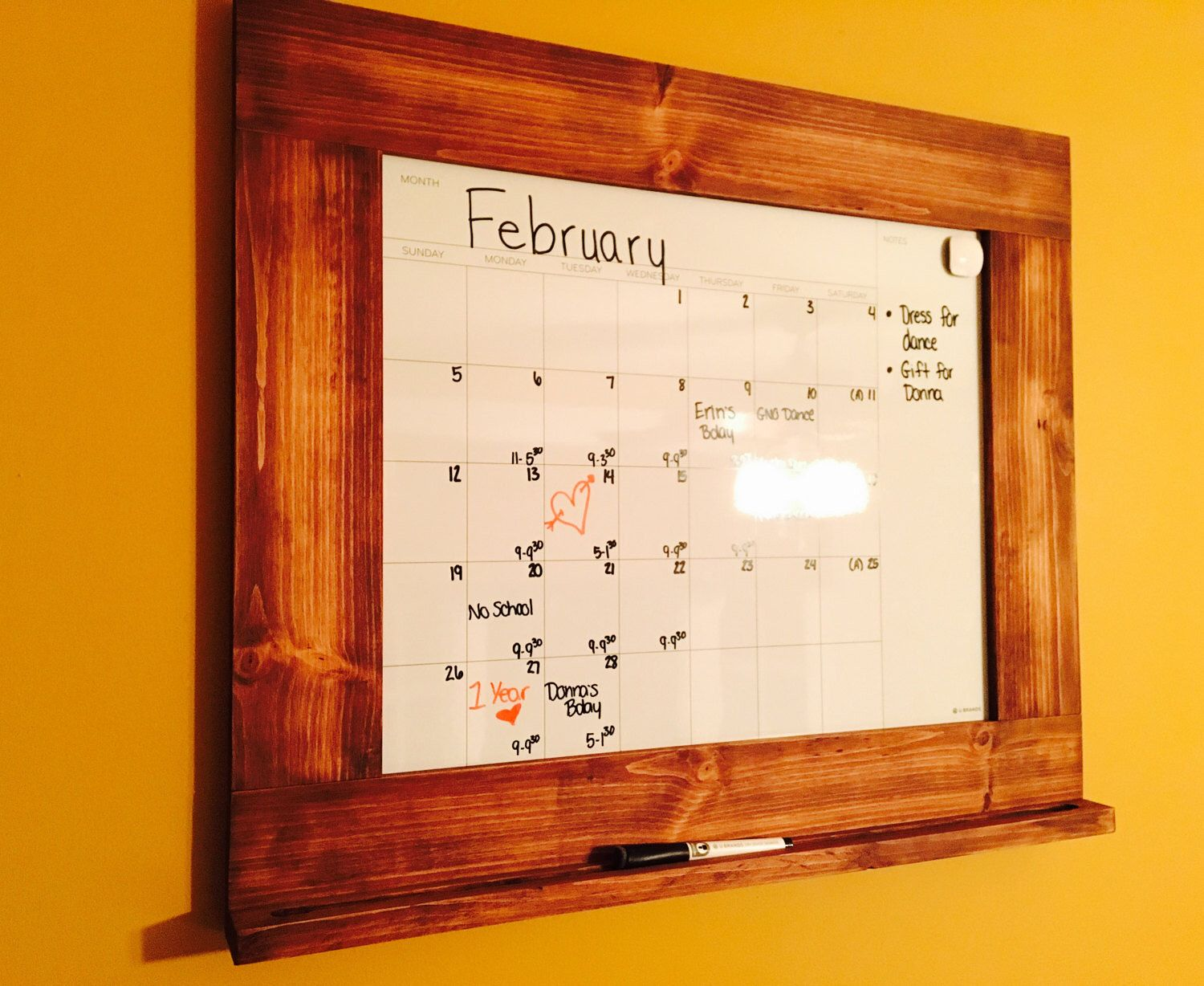 Famous Wood Framed Dry Erase Board Motif - Picture Frame Ideas ...
