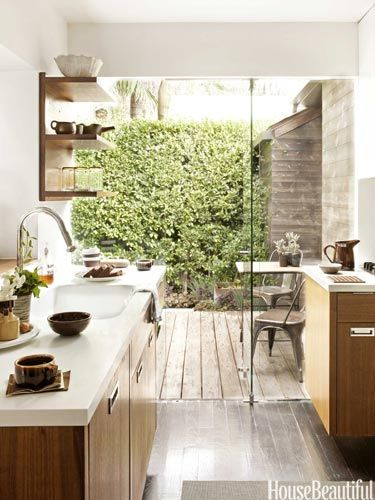 Small Space Design Decorating Ideas For Small Spaces House Beautiful Indoor Outdoor Kitchen Small House Interior Kitchen Inspirations
