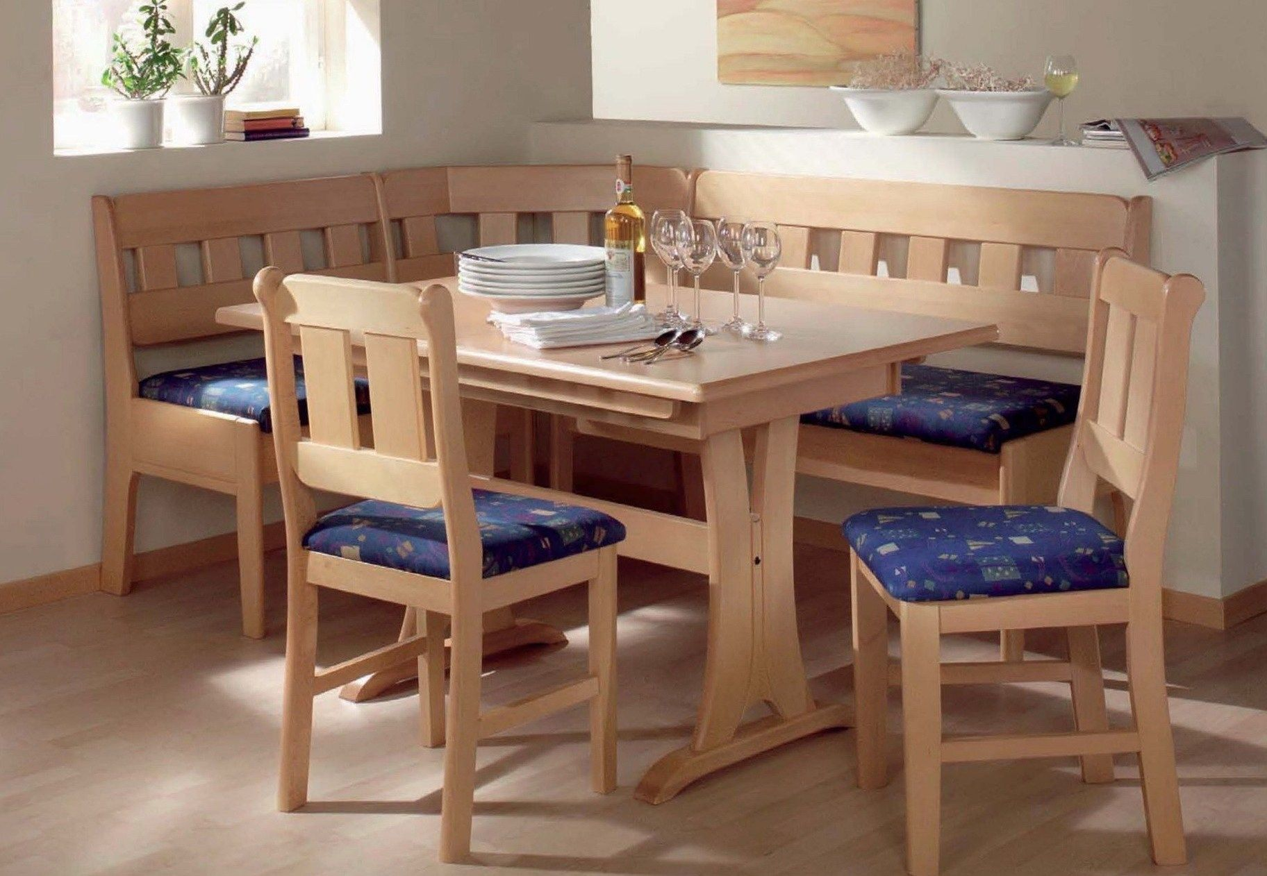 Corner Kitchen Tables With Storage Benches