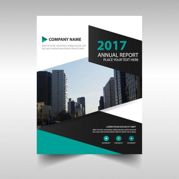 Vert conception abstraite livre de modèle de couverture Annual - blank brochure templates