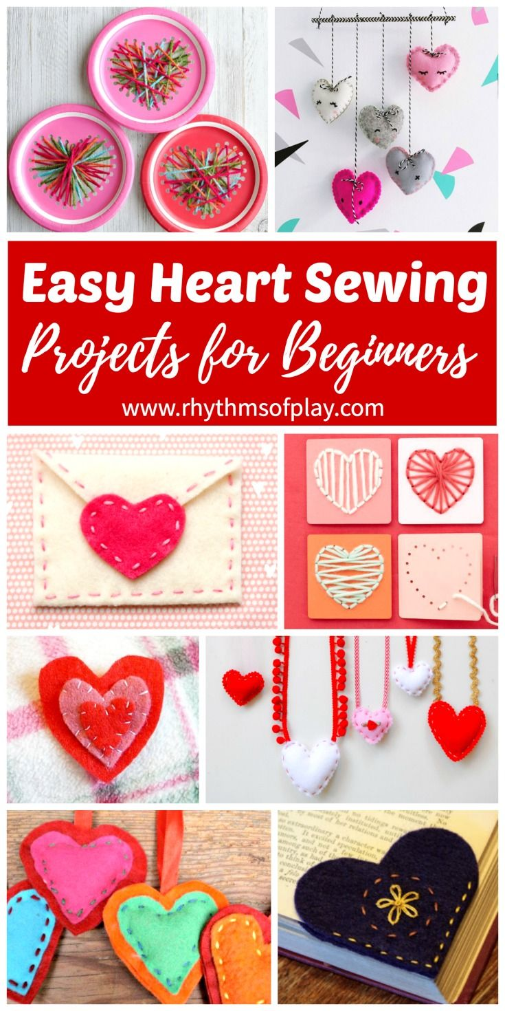 Easy Heart Sewing Projects For Beginners Homemade Crafts Hand