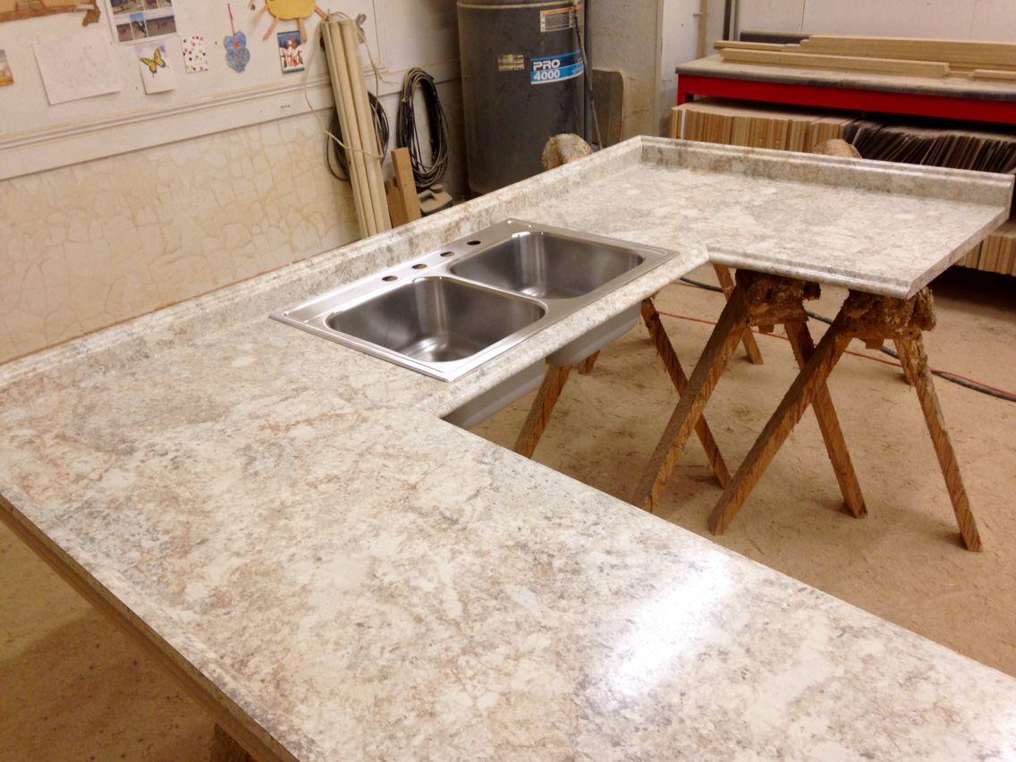 Crema Mascarello Formica S 180 Degree Fx Valencia Profile Double Elite Stainless Steel Sink Bo Diy Kitchen Remodel Concrete Countertops Kitchen Kitchen Redo