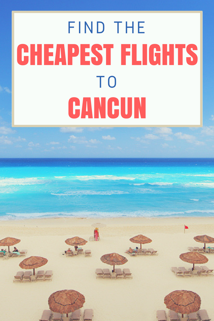 Find The Best Deals On Flights To Cancun At Airfarewatchdog Cancun Trip Best Flights Cancun Flights