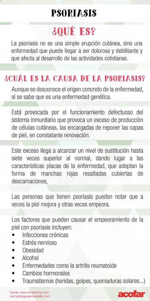 Psoriasis: qué es y cuál es su causa.