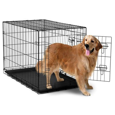 Paws Pals Wire Dog Crate With Tray Double Door Large 42 L Walmart Com Extra Large Dog Crate Large Dog Crate Xxxl Dog Crate