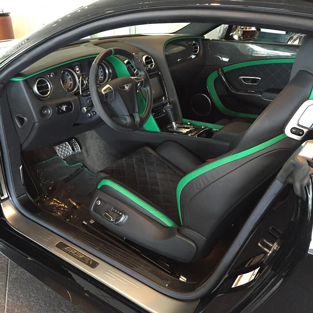 bentley continental gt speed green and black interior option diamond stitch grey car ville. Black Bedroom Furniture Sets. Home Design Ideas