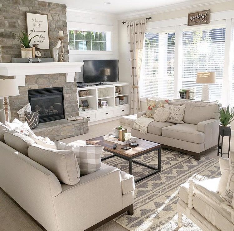 Lake house family room I love this