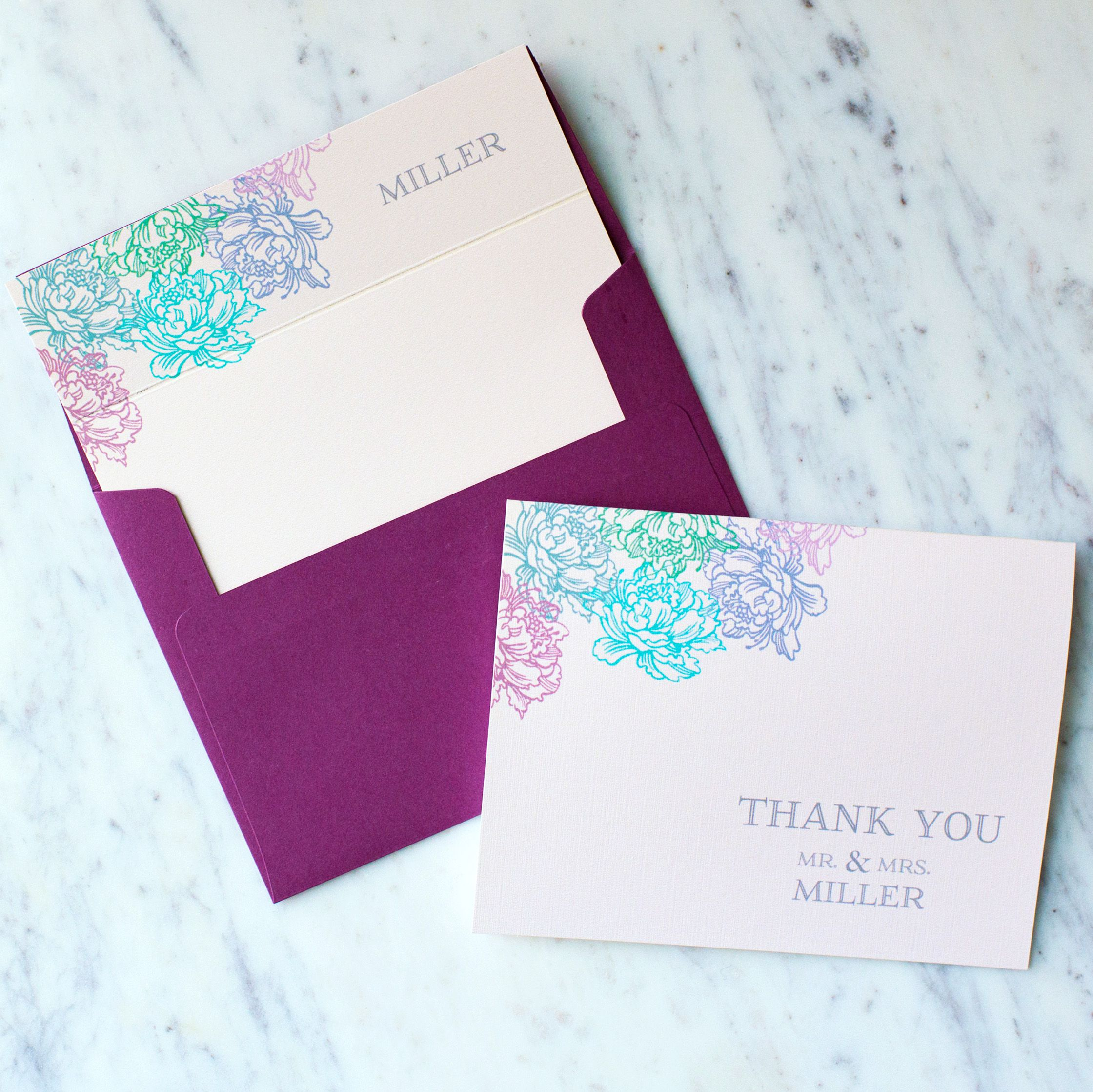 personalized wedding thank you notes%0A Rock Candie Designs Custom Personalized Floral Corner Stationery is a  unique bridal shower gift  Shower