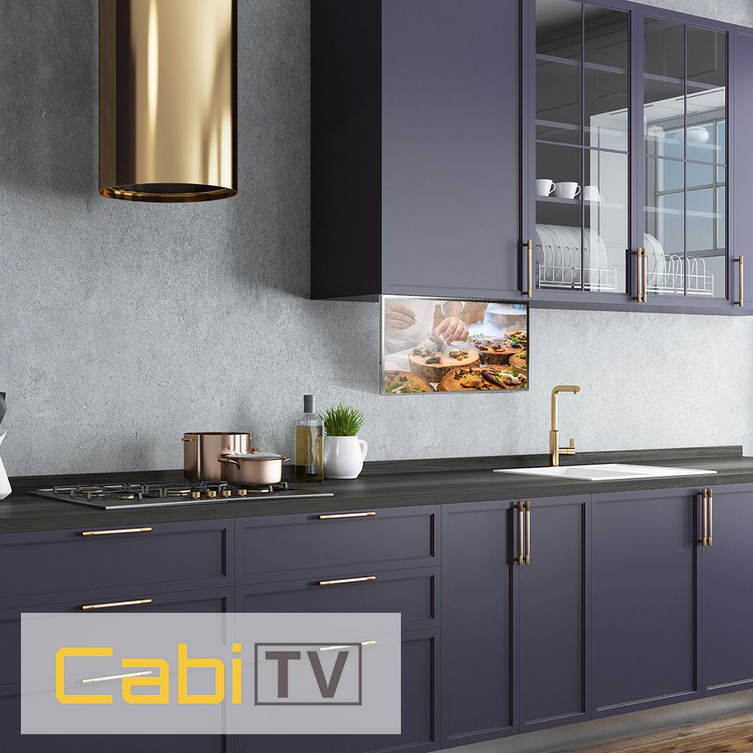 enjoy your time in the kitchen with cabitv ct 100 smart kitchen tv rh pinterest com