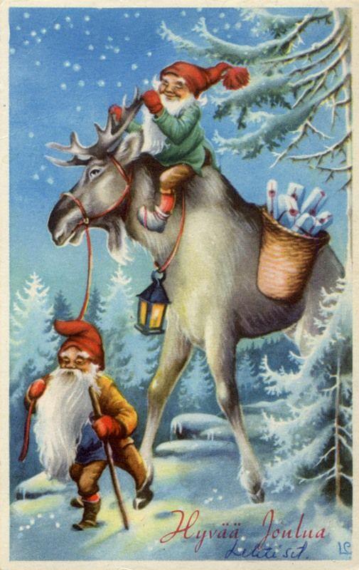 Новогодние скандинавские открытки