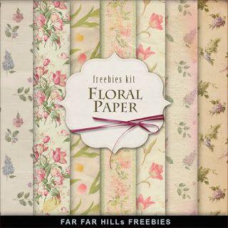 Far Far Hill: Freebies Vintage Style Kit - Floral Paper