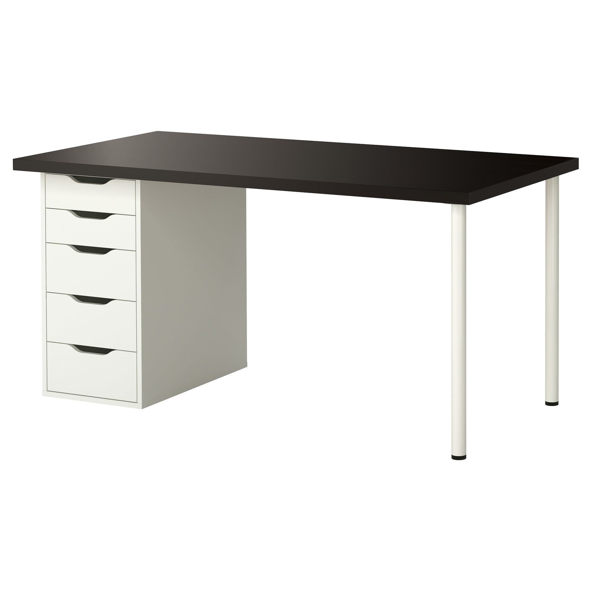 Linnmon Alex Table Black Brown White Find It Here Ikea In 2020 Ikea Ikea Canada Black Desk