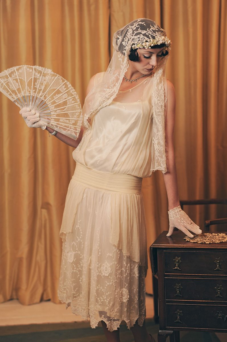 1920 wedding dress  s vintage wedding dress antique lace fan and s bridal