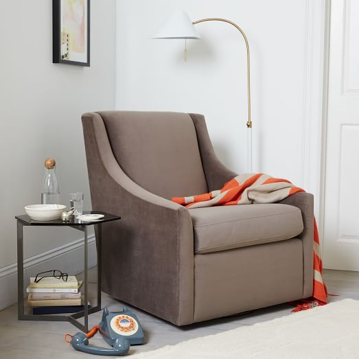 Sweep Swivel Armchair At West Elm. This One Isnu0027t Available In Leather (