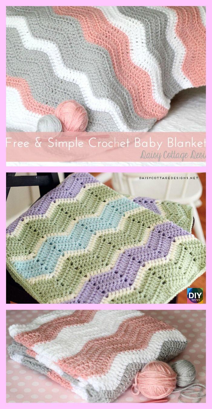 Crochet Ripple Baby Blanket - Free Pattern | Crochet ripple, Free ...
