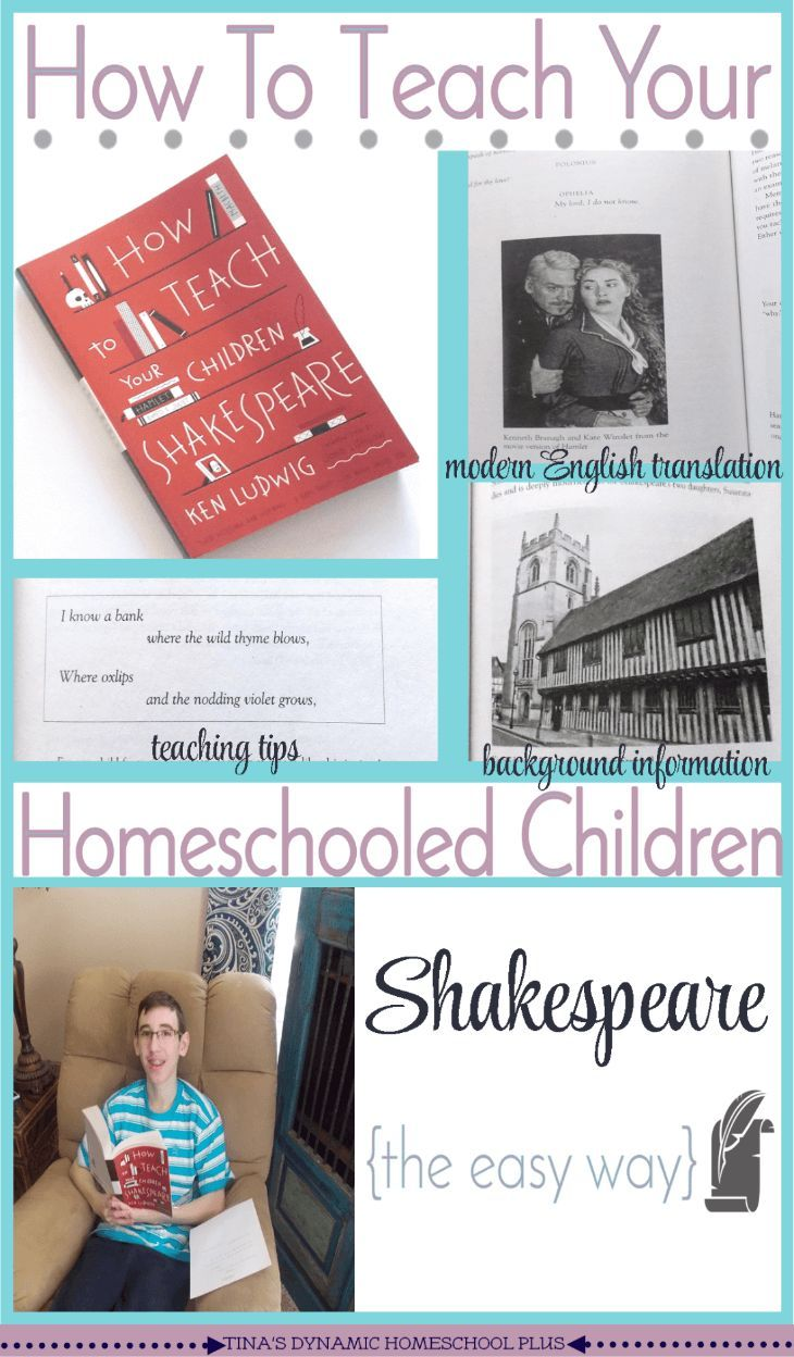 How To Teach Your Homeschooled Children Shakespeare Homeschool Elementary Language Arts Activities Teaching