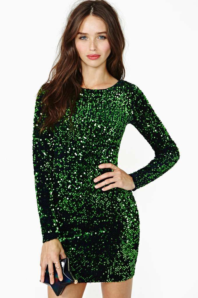9b3db0376e Motel Gabby Sequin Dress