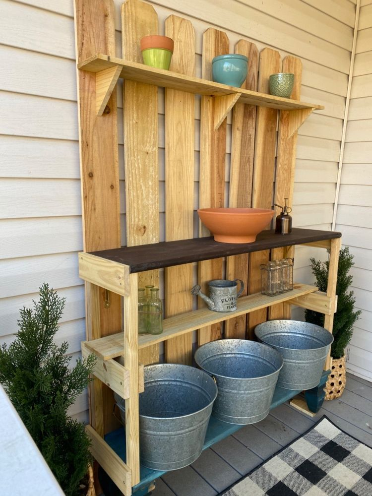 Awesome Potting Bench Plans With Images Potting Bench Plans Potting Bench Bench Plans
