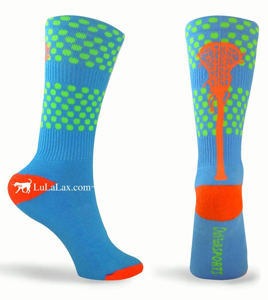 Pair MadSportsStuff Orange//Black Player Id Custom Over The Calf Number Socks